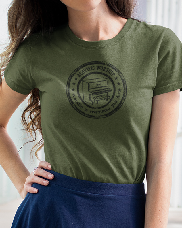 Vintage Piano Tee Shirt