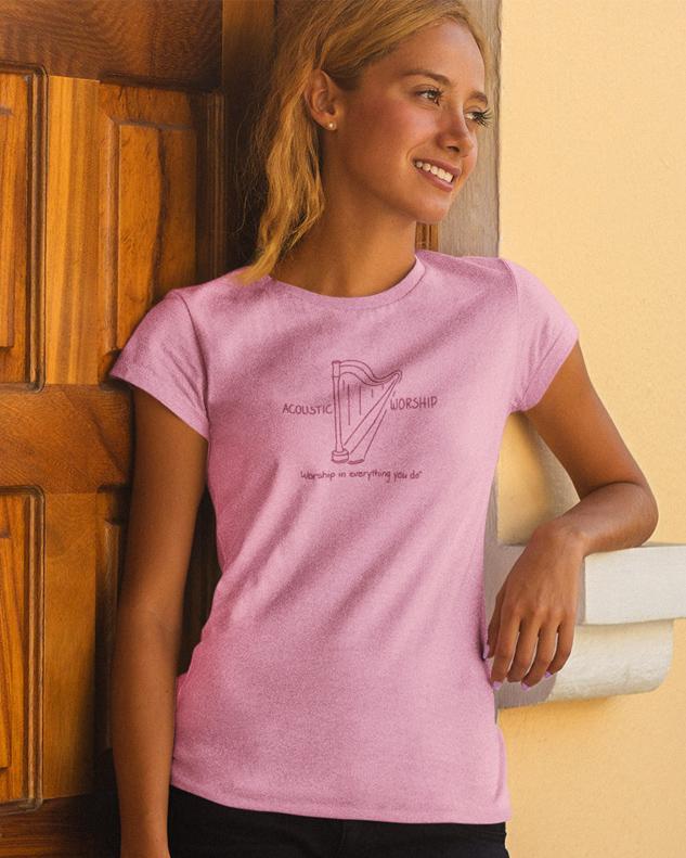 Harp Acoustic Worship Shirt