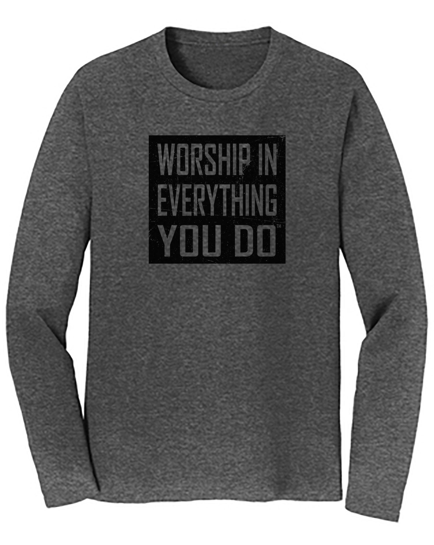 Worship Logo Long Sleeve Tee