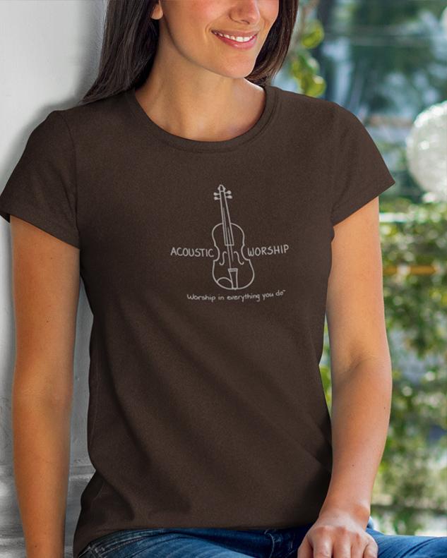 Violin Acoustic Worship Shirt